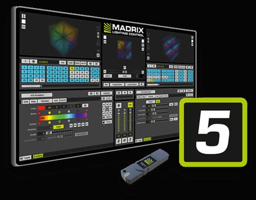 Madrix version 5 ljusstyrningssystem